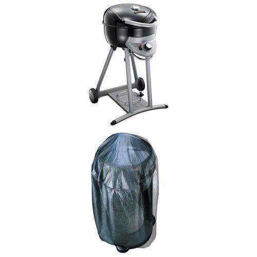 Char-Broil TRU-Infrared Patio Bistro Gas Grill Black  Cover