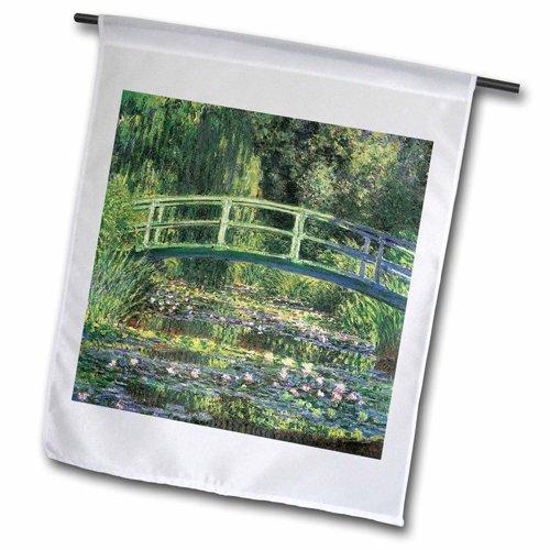 3drose Fl_126630_2quotwater Lilies And Japanese Bridge By Claude Monet 1899&quot Garden Flag 18 X 27&quot