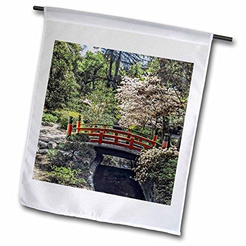 3drose Fl_127498_1 Garden Flag 12 By 18-inch Japanese Garden Bridge