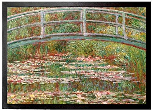 Claude Monet Door Mat Floor Mat - The Japanese Bridge 1899 28 x 20 inches