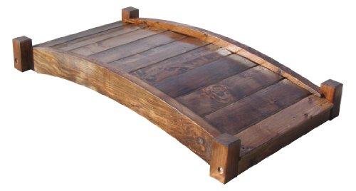 Samsgazebos Zen Japanese Style Wood Garden Bridges 4-feet Brown