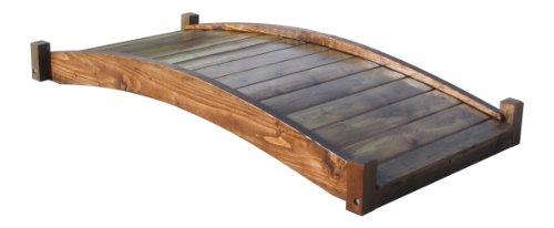 Samsgazebos Zen Japanese Style Wood Garden Bridges 6-feet Brown