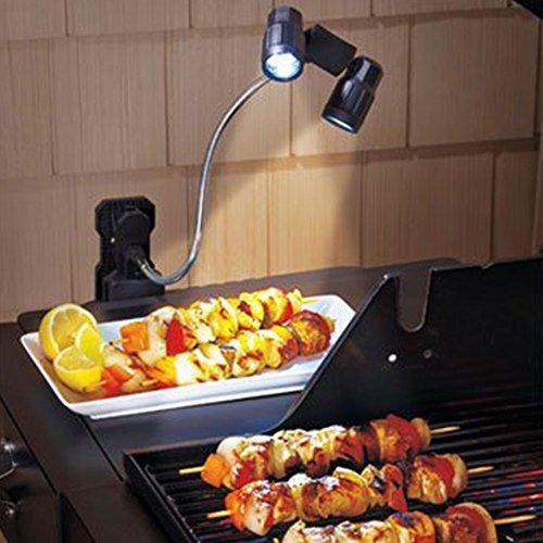MYMM Gooseneck Grill Light BBQ Grill lamp Wireless Work lamp Clip on 6 Ultra-Bright LED 360° Adjustable