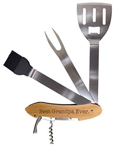 Fathers Day Gift for Grandpa Best Grandpa Ever BBQ Grill Multi Tool Barbecue Spatula Grilling Accessories