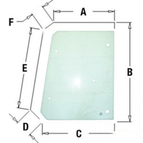 All States Ag Parts Cab Glass - Door Upper RH or LH Compatible with John Deere 710G 410G 710J 310J 310SG 315SG 310SJ 310G 410J T164707