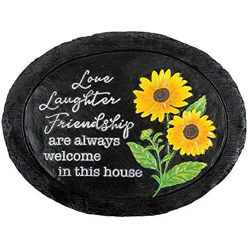 Carson Love Laughter Friendship Slate Garden Stone