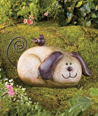 Stone Garden Dog Lawn Ornament