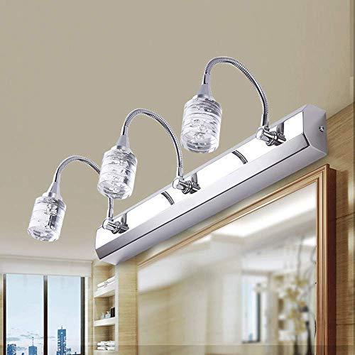 LQRYJDZ Modern LED Mirror Headlight Rocker Arm Wall LampSimple Bathroom and Bathroom Mirror Cabinet lamp,Dressing Table Waterproof Anti-Fog Wall lamp8W4000K with Light Source