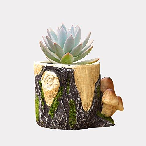 Clay Mushroom Cacti Succulent Plant Pot Flower Planter Mini Garden Design