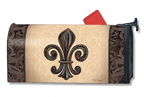 MailWraps Fleur de Lis Mailbox Cover 01287