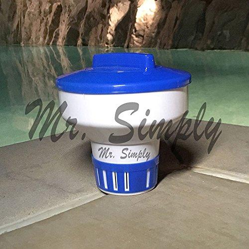 7 Pool Spa Bromine Chlorine Floating Chemical Dispenser for 3 1 Tabs Tablets