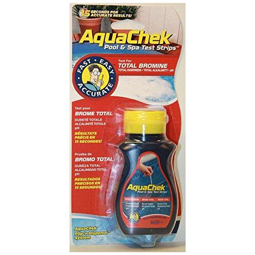 Aqua Chek 521253 Red Pool or Spa Bromine Test Strips