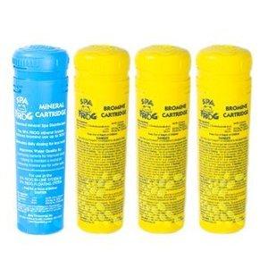 Spa Frog Chemical Bundle - 1 Mineral - 3 Bromine Catrtridges