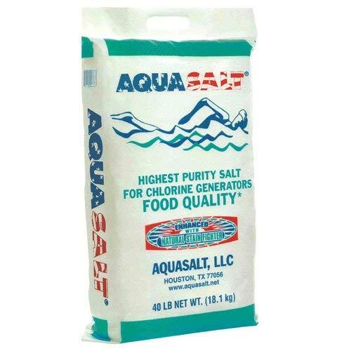 AQUASALT Aquasalt-40 Swimming Pool and Spa Chlorine Generator Salt-40 lbs Pound White