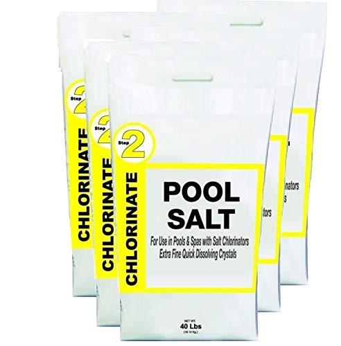 Home Repair Parts Swimming Pool and Spa Chlorine Generator Salt - 5-Pack of 40 Pound Bags