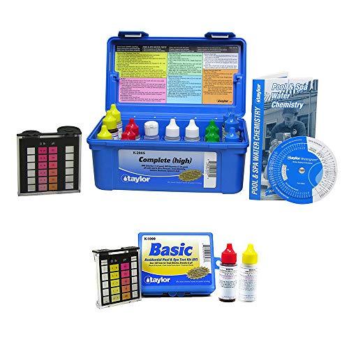 Taylor K2005 Pool Chlorine Bromine Alkalinity Test Kit wAdditional Basic Kit