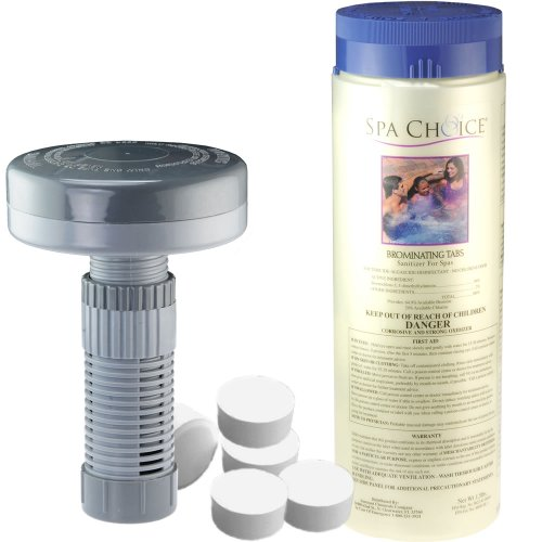 Bromine Tablets With Floating Dispenser - Sanitizer Kit For Hot Tub Spa