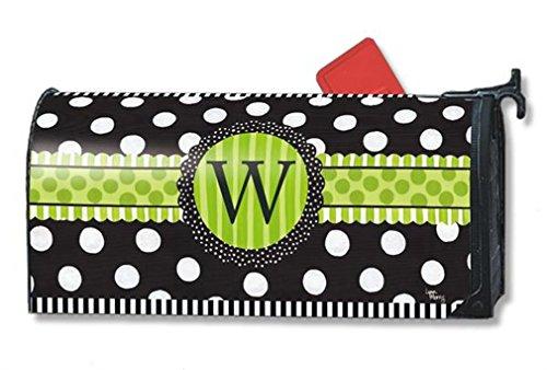 Mailwraps Frolic Monogram w Mailbox Cover 01190w