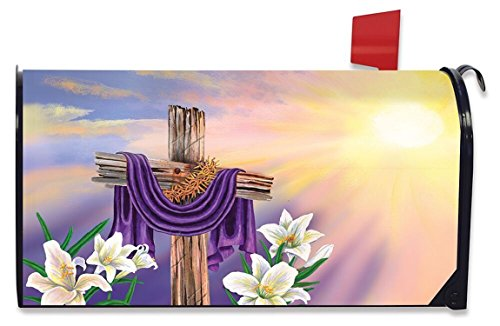 Briarwood Lane Easter Cross Magnetic Mailbox Cover Lilies Holiday Standard