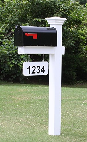 The Madison Vinyl  PVC Mailbox Post Includes Mailbox