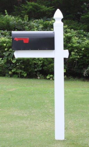 The Richmond Vinyl  PVC Mailbox Post Includes Mailbox
