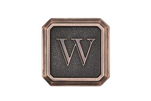 Architectural Mailboxes 3650ORB-W Aluminum Oil Rubbed Bronze Monogram - LetterW