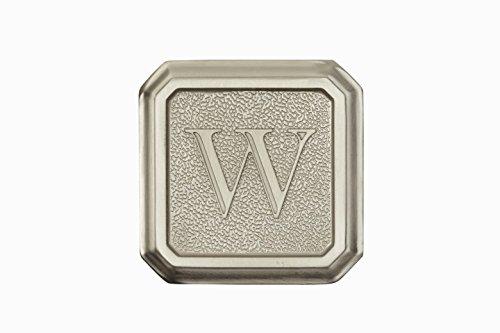 Architectural Mailboxes 3650SN-W Aluminum Satin Nickel Monogram - LetterW
