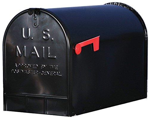 SOLAR Group Jumbo Steel Rural Mailbox Black NEW