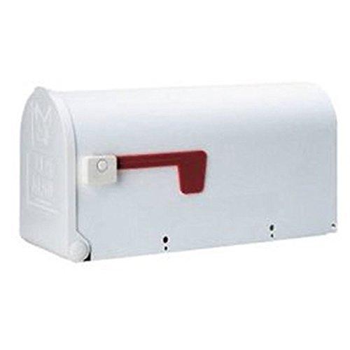 Solar Group Inc 20410043 Solar Group Standard Size Plastic Rural Mailbox White Model  Tools Hardware store