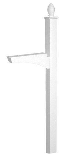 Architectural Mailboxes Coronado In-ground Decorative Mailbox Post White