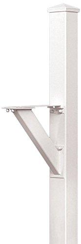 Salsbury Industries 4825wht In-ground Mounted Post Modern Decorative Mailbox White