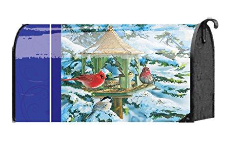 Cardinal Winter Birdhouse Mailbox Cover
