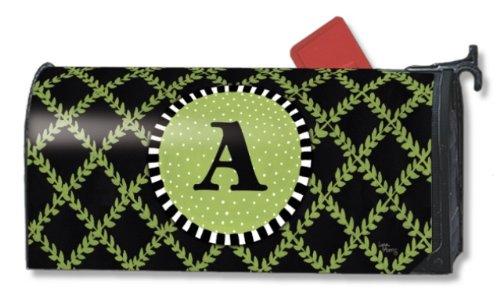 Monogram A Magnetic Mailbox Cover Garden Trellis Initial A Mail Wrap