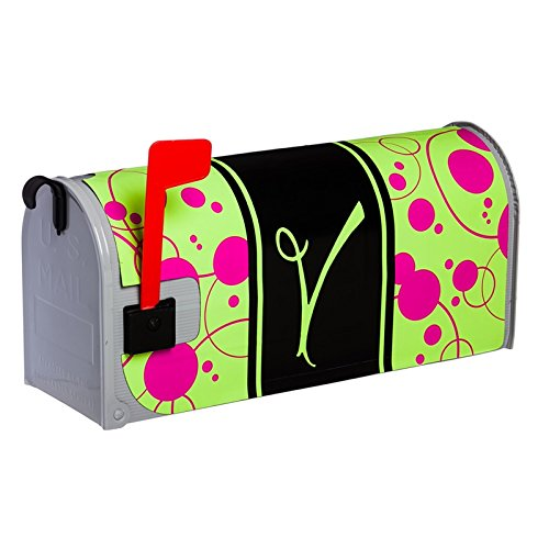 Monogram Peppy Pink Glow In The Dark Magnetic Mailbox Cover - V
