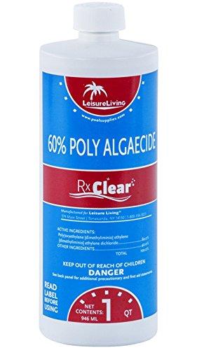 Rx Clear Swimming Pool Algaecide 60 Plus 1 Quart