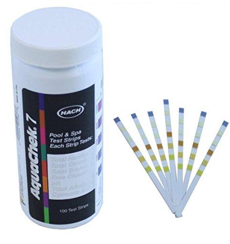 7 In 1 Silver Swimming Pool Spa Chlorine Ph Test Strips Stabilizer Aquachek