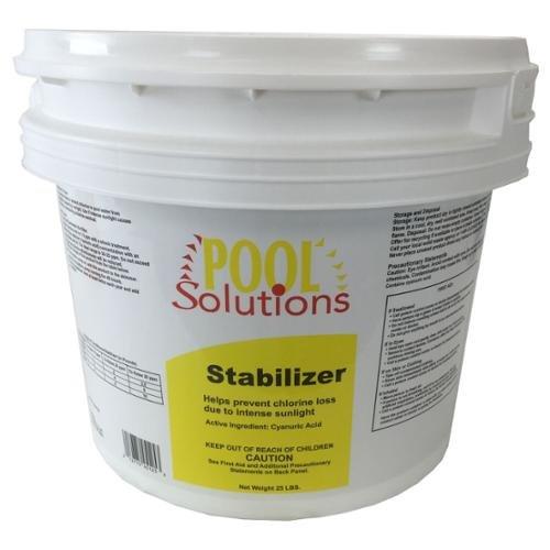 Pool Solutions Swimming Pool 25Lb Chlorine Stabilizer Cyanuric Acid  P17025DE