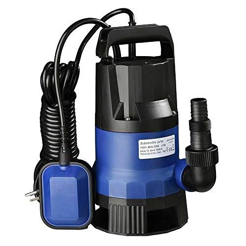 Jak N Joe Submersible Water Pump Plastic Blue for Swimming Pool Flooding Pond Size 34 HP 550 Watt Modern Style Set of 1