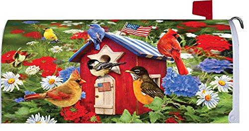 &quot Patriotic Birdhousesquot - Patriotic - Mailbox Makeover - Vinyl Magnetic Cover