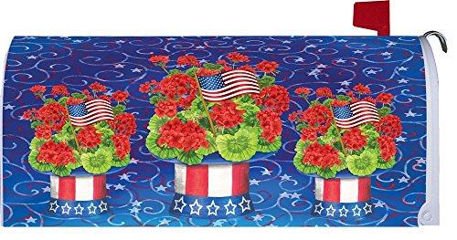 &quot Patriotic Geraniumquot - Patriotic - Mailbox Makeover - Vinyl Magnetic Cover