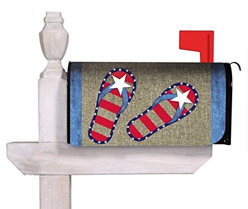 Burlap Patriotic Flip Flop Mailbox Cover