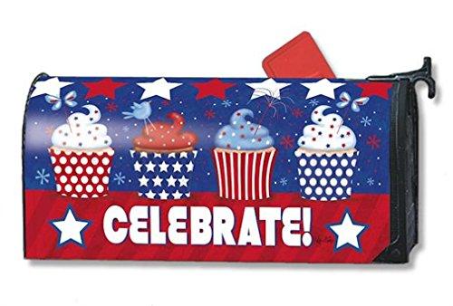 Mailwraps Patriotic Cupcakes Mailbox Cover 01083