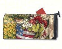 Mailwraps Patriotic Pail Mailbox Cover 02039