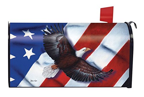 Patriotic Eagle Magnetic Mailbox Cover 4th of July Holiday Briarwood Lane