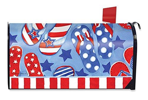 Summer Fun Patriotic Magnetic Mailbox Cover Flip Flops Briarwood Lane
