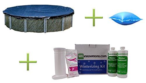 Swimline 18 Round Pool Cover  4x4 Closing Pillow  Winterizing Kit