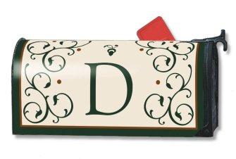 Monogram D Mailbox Cover Initial D Mail Wrap