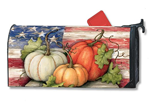 Mailwraps Patriotic Pumpkin Mailbox Cover 01040
