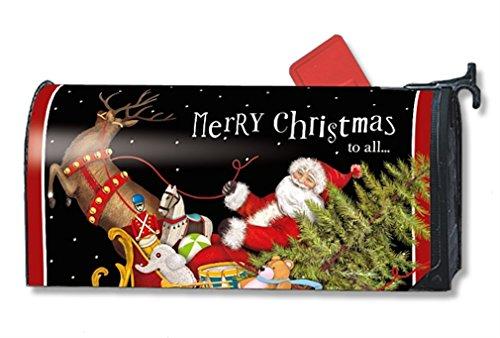 Mailwraps Santas Sleigh Mailbox Cover 01245