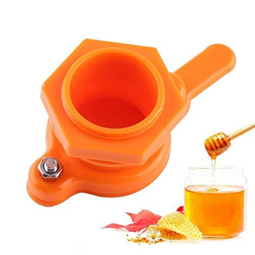 Sttech1 Honey Gate Valve Plastic Bee Honey Tap Gate Valve Beekeeping Extractor Bottling Tool Orange